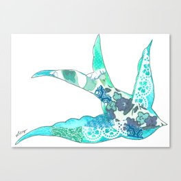 Light Blue Swallow Canvas Print