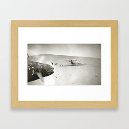 Coelacanth at the Wright Bothers' First Flight Framed Art Print