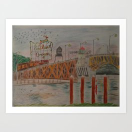 Burnside Bridge Art Print