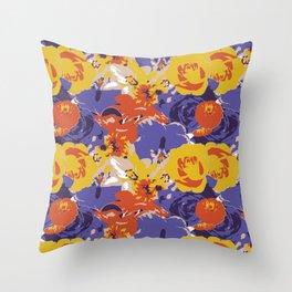 Retro Floral Throw Pillow