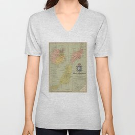 Vintage Map of The Canary Islands (1916) Unisex V-Neck