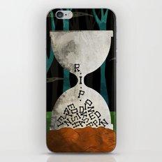 hourglass tombstone iPhone & iPod Skin