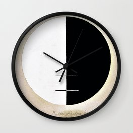 Hilma af Klint - Buddha's Standpoint in the Earthly Life, No. 3a, Series XI Wall Clock