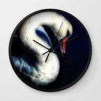 grace Wall Clocks featuring Grace by Spoken in Red
