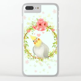 With Love From The Sweetest Cockatiel Clear iPhone Case