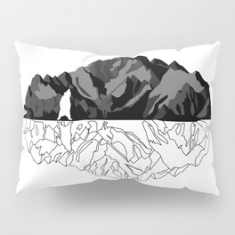Mountains Bear Pillow Sham