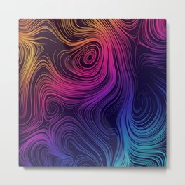 Mystic Swirls Metal Print