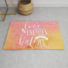 LUKE 6:27 (Love Your Enemies) Rug