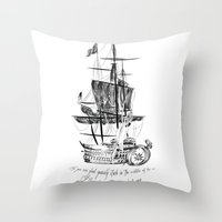larry Throw Pillows featuring Larry tattooes by Drawpassionn