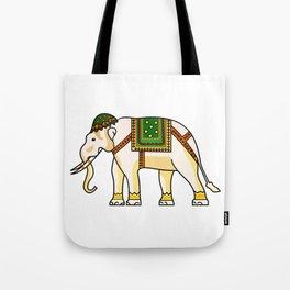 Watercolour Tribal Elephant Clothing Artwork Tote Bag