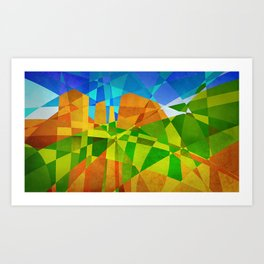 Red Rock Crossing, Sedona AZ Art Print