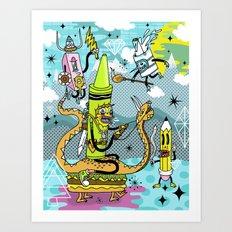 The Great Doodle Warriors Art Print