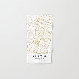 AUSTIN TEXAS CITY STREET MAP ART Hand & Bath Towel
