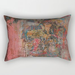 Elegante Signora in un Giorno Piovoso Rectangular Pillow