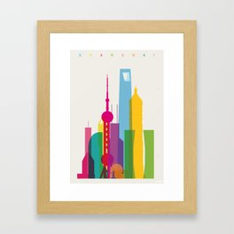 Shapes of Shanghai. Accurate to scale Framed Art Print