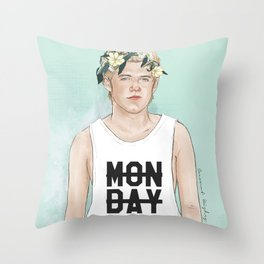 Flower crown Niall Throw Pillow