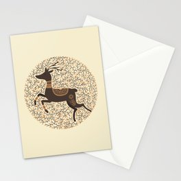 Scandinavian Folk Art Stag Stationery Cards