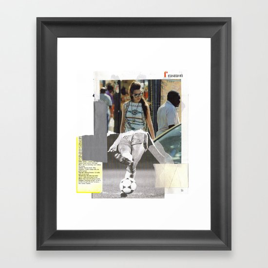 Football Fashion #17 Framed Art Print