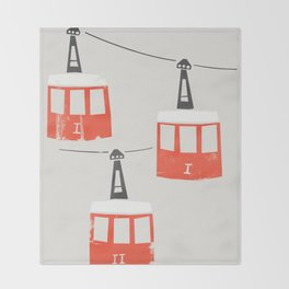 Barcelona Cable Cars Throw Blanket