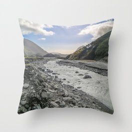 Beyond the Glacier Valley Throw Pillow