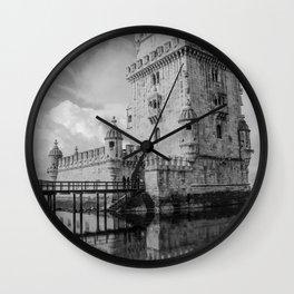 Belem Tower Lisbon 4 Wall Clock