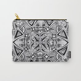 Hand drawn full page mandala Carry-All Pouch