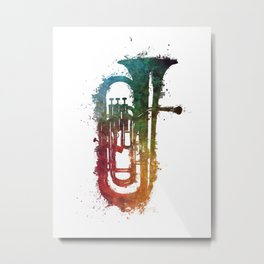euphonium music art Metal Print