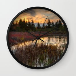 Autumn Dolly Sods Sunset Wall Clock