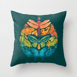 Bugs & Butterflies 2 Throw Pillow