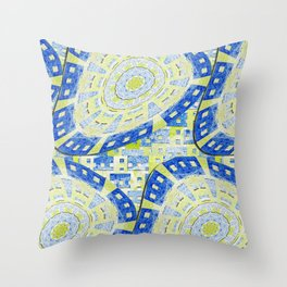 Distorted Order Throw Pillow