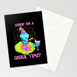 Lookin' for a ghoul time? Stationery Cards