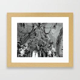The Bone Church Chandelier Framed Art Print