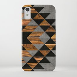 Urban Tribal Pattern 10 - Aztec - Concrete and Wood iPhone Case