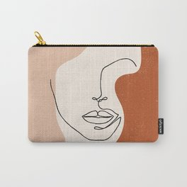 Line Facial Features Carry-All Pouch