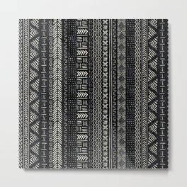 Mud Cloth Stripe Metal Print