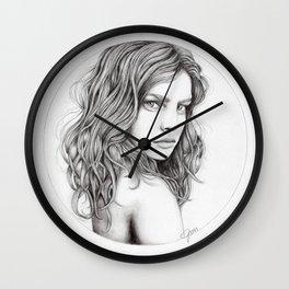 JennyMannoArt Graphite drawing Wall Clock
