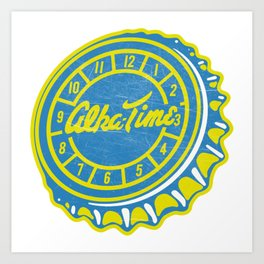 Vintage Alka-Time Soda Pop Bottle Cap Art Print