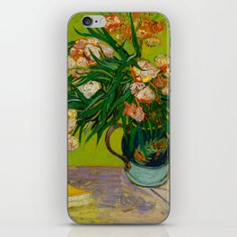 Oleanders Vincent van Gogh Oil On Canvas Floral Still Life Painting iPhone Skin