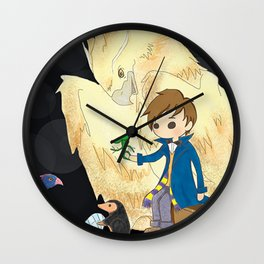 Fantastic beasts and where to find them. Wall Clock