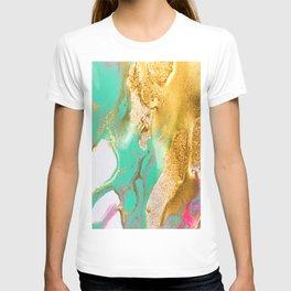 beautiful abstract art with fluid liquid paint T-shirt