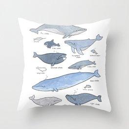 Whales Dolphins & Porpoises Throw Pillow