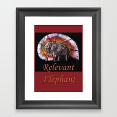 Relevant Elephant Framed Art Print