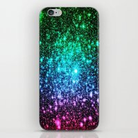 glitter iPhone & iPod Skins featuring glitter Cool Tone Ombre by 2sweet4words Designs
