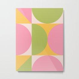Mid Century Modern Geometric Abstract 355 Metal Print
