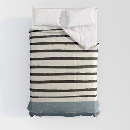 Dusty Blue x Stripes Comforters