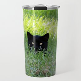 Panther in the Grass Travel Mug