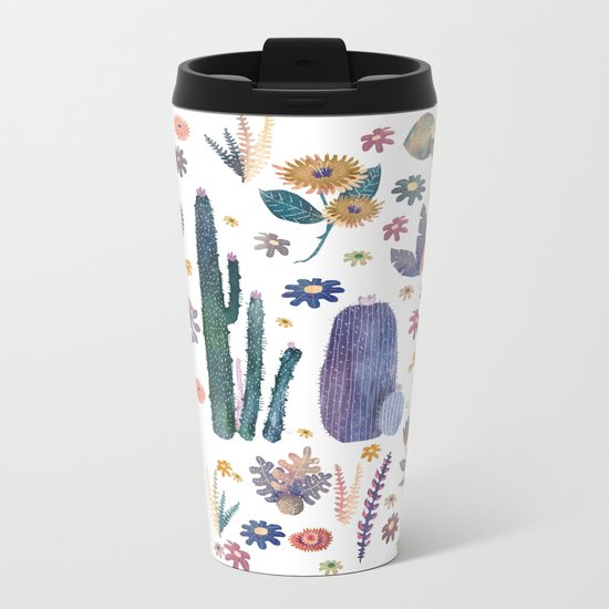 cactus king and Queen of the nature!! Metal Travel Mug
