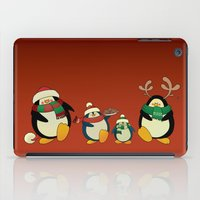 cartoons iPad Cases featuring Penguin family  by mangulica