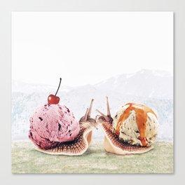 Sweet Snails Canvas Print