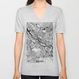 Bremen Map Gray Unisex V-Neck